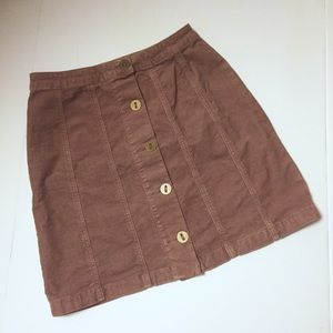 NWT Pilcro and the Letterpress Corduroy Skirt